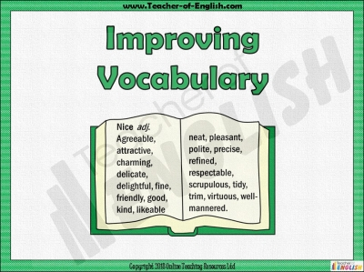 Improving Vocabulary