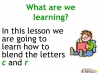KS1 Reading and Blending Letters and Sounds (slide 21/43)