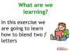 KS1 Reading and Blending Letters and Sounds (slide 33/43)