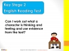 KS2 SATs English Reading - Thoughts and Feelings Teaching Resources (slide 2/28)