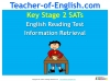 KS2 SATs English Reading Information Retrieval Teaching Resources (slide 1/40)