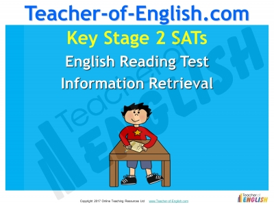KS2 SATs English Reading Information Retrieval