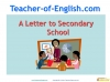 Letter to secondary school Teaching Resources (slide 1/48)