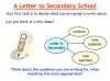 Letter to secondary school Teaching Resources (slide 10/48)