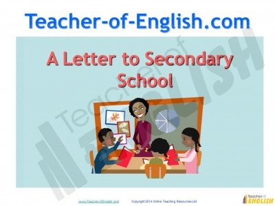 Letter to secondary school