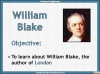 London by William Blake Teaching Resources (slide 4/55)