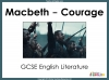 Macbeth - Courage Teaching Resources (slide 1/15)