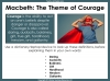 Macbeth - Courage Teaching Resources (slide 3/15)