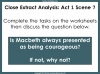 Macbeth - Courage Teaching Resources (slide 7/15)