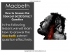 Macbeth - Edexcel GCSE Extract Question Teaching Resources (slide 2/45)