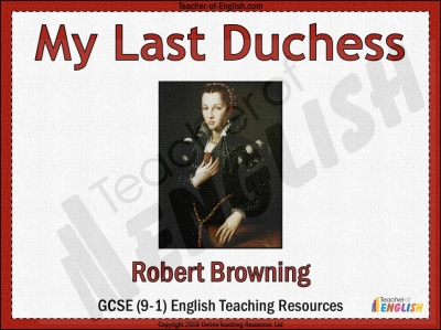 My Last Duchess Teaching Resources