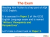NEW AQA GCSE English (9-1) Reading Non-fiction Texts Teaching Resources (slide 84/95)