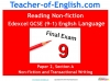 NEW Edexcel GCSE English (9-1) Reading Non-fiction Texts (slide 1/94)