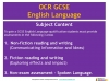NEW OCR GCSE English (9-1) Reading Non-fiction Texts (slide 3/95)