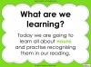 Nouns - Year 1 Teaching Resources (slide 2/29)