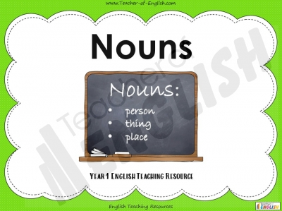 Nouns - Year 1 Teaching Resources