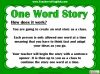 One Word Story Teaching Resources (slide 3/9)