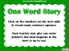 One Word Story Teaching Resources (slide 5/9)