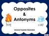 Opposites and Antonyms (slide 1/9)