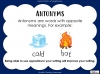 Opposites and Antonyms (slide 3/9)