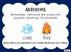 Opposites and Antonyms (slide 9/9)