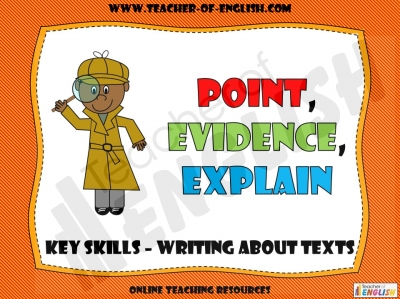 Point, Evidence, Explain Teaching Resources