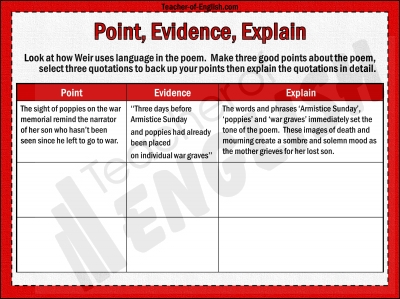 Poppies by Jane Weir teaching resources - PowerPoint and worksheets