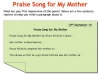 Praise Song for My Mother Teaching Resources (slide 17/40)