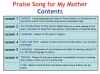 Praise Song for My Mother Teaching Resources (slide 2/40)