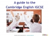 Preparing for the Cambridge IGCSE English Exam (slide 2/34)