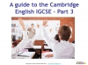 Preparing for the Cambridge IGCSE English Exam (slide 23/34)