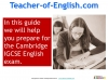 Preparing for the Cambridge IGCSE English Exam (slide 3/34)