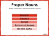 Proper Nouns Teaching Resources (slide 1/7)