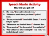 Punctuating Speech Teaching Resources (slide 8/13)