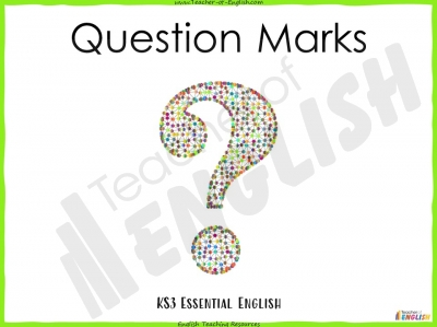 Question Marks - KS3