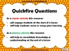 Quickfire Questions Teaching Resources (slide 2/8)