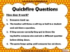 Quickfire Questions Teaching Resources (slide 3/8)
