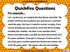 Quickfire Questions Teaching Resources (slide 4/8)