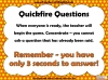 Quickfire Questions Teaching Resources (slide 5/8)
