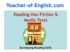 Reading Non Fiction and Media Texts (slide 1/104)