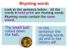 Rhyming Words (slide 3/11)