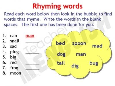 Rhyming Words Worksheet Ks1 | ABITLIKETHIS