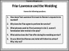Romeo and Juliet - Friar Lawrence and the Wedding Teaching Resources (slide 13/13)