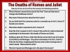 Romeo and Juliet - The Deaths of Romeo and Juliet Teaching Resources (slide 6/7)