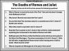 Romeo and Juliet - The Deaths of Romeo and Juliet Teaching Resources (slide 7/7)