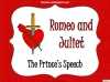 Romeo and Juliet - The Prince's Speech Teaching Resources (slide 1/14)