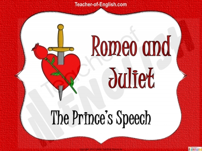Romeo and Juliet - The Prince's Speech Teaching Resources