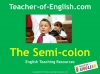 Semi-colons (slide 1/11)
