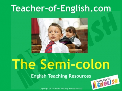 Semi-colons Teaching Resources