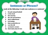 Sentences and Phrases Teaching Resources (slide 5/9)